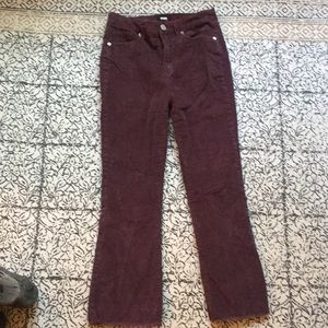 Purple Corduroy Jeans, flared at bottom